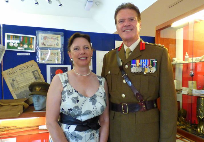 Col Nigel Wilkinson and his wife Caroline