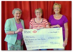 Ann Wordingham, Yvonne Billany and Ros Hinchliffe MS Society