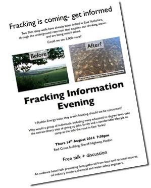 Fracking Talk Hedon Poster - Click for larger image