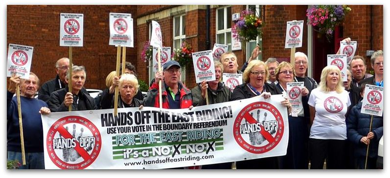 Hands Off the East Riding campaigners