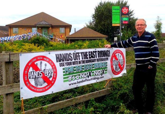 John Dennis and Hands Off banner
