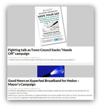 Some Council coverage on Hedon Blog