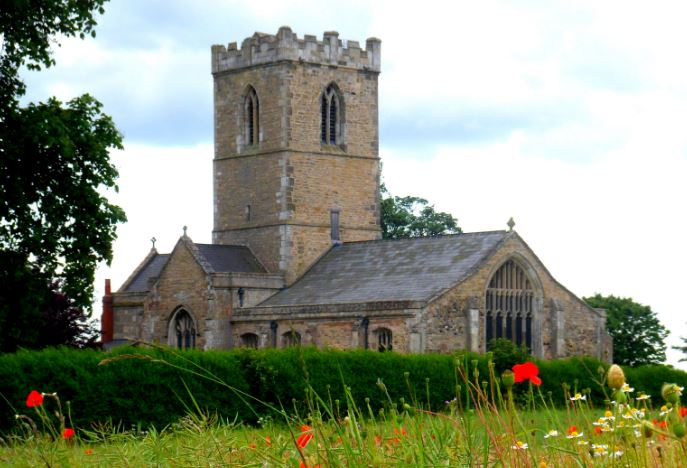 St Andrew Church poppies July 2013