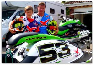 Steve Robinson and son Harry