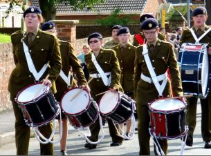Cadet drummers Civic Sunday 2014 Church Lane