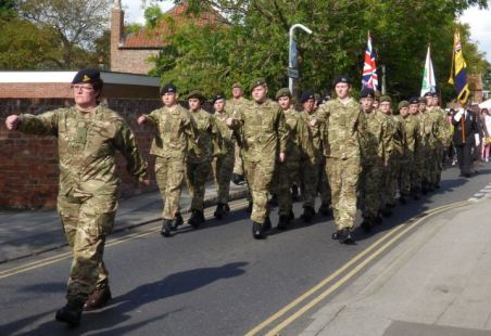Cadets Parade 2014 Baxtergate 2