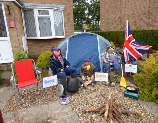 Camping scarecrows but no Rainbow Scarecrow :-(