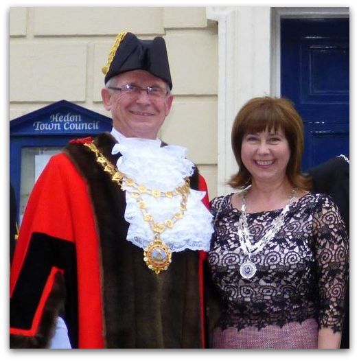 Hedon Mayor and Mayoress Cllr John and Jennifer Dennis 2014