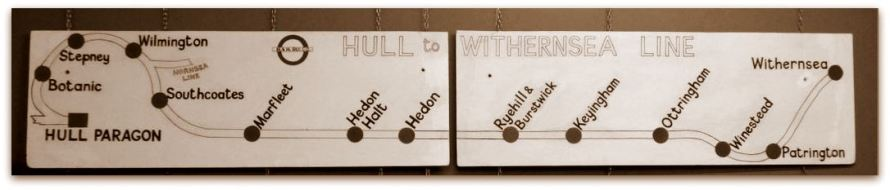 Hull to Withernsea Line Sign