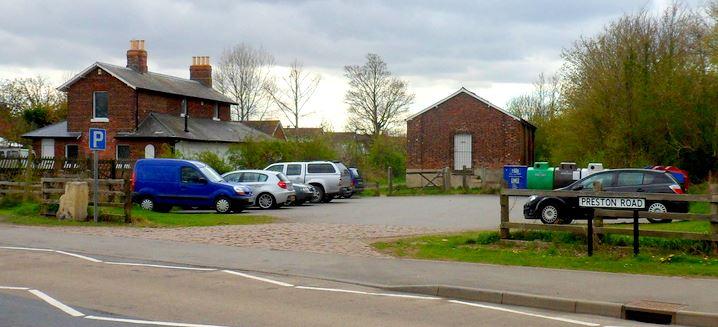 Old railway station car park