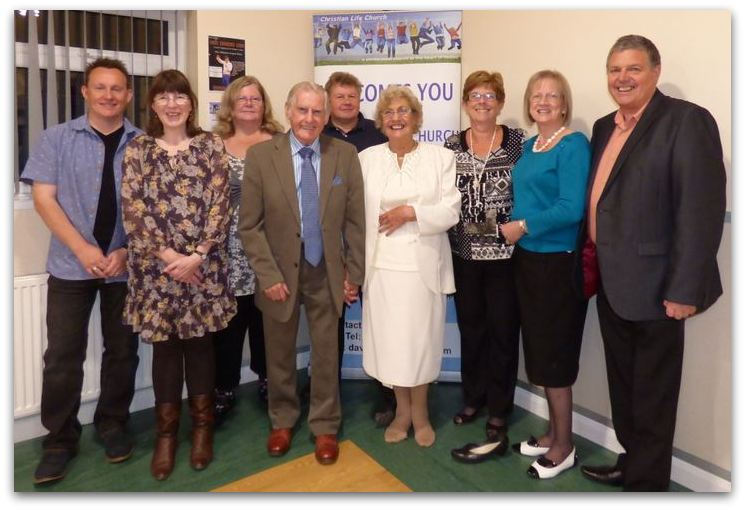 Pastor Dave North, Dawn North, Pastor Lesley Bellerby, Ray Redmore, George Bellerby, Flo Redmore, Heather Burwell, Sue MacKenzie, Pastor Jim MacKenzie 2