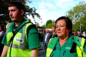 Volunteers from St John Ambulance - helping to make Civic Sunday happen
