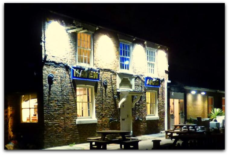 Haven Arms at night