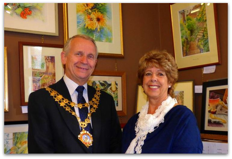 Hedon Mayor and Janet Thackray