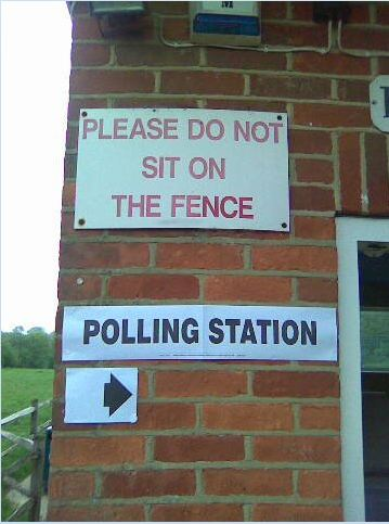 Polling Station - Do Not Sit on the Fence