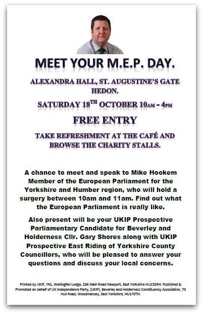 UKIP October 2014 Hedon Leaflet