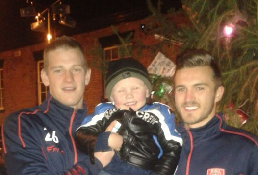Charlie Hubbard with Sonny Esslemont and Matty Beharrell from HKR