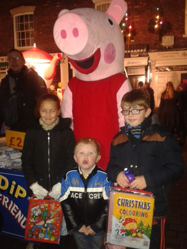 Charlie and friends with Peppa