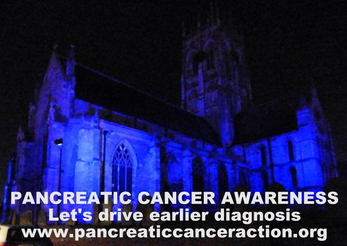 Church lit up pancreatic cancer