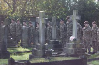 Cadets in Hedon Cemetery - Jayne Arksey