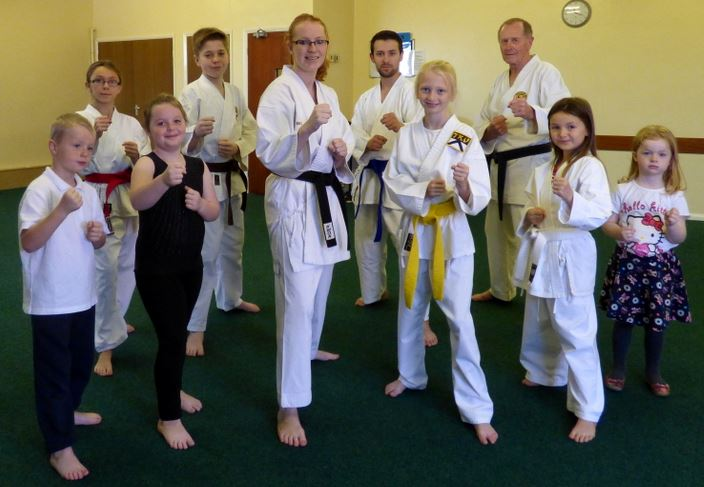 Tanya Riley (centre) with one of her Hedon classes