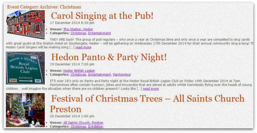 Christmas listings snip