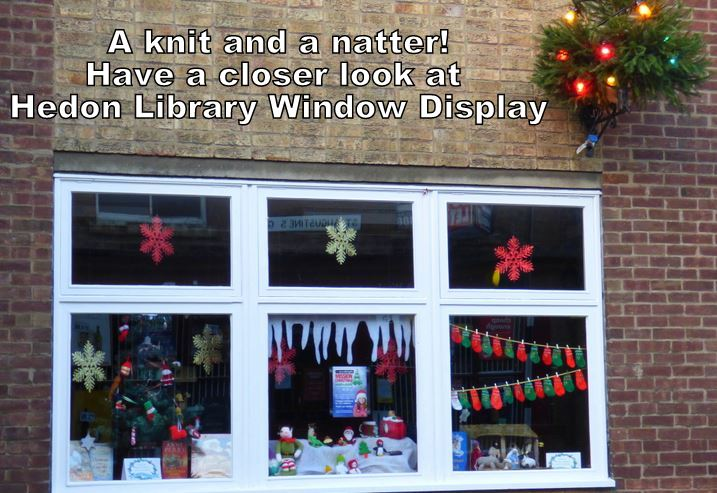Hedon Library Christmas display