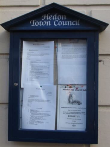 Hedon Town Council Noticeboard snip