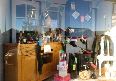 Johnsons window at Christmas