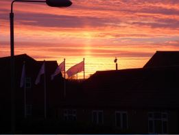 Sunrise over Holderness Grange.