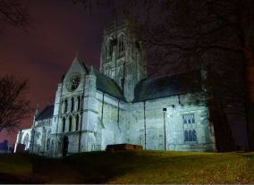 Andy Beecroft with his magnificent southern view of the church 5th January.