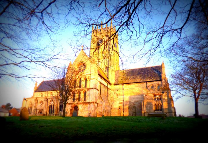 This first of the church lit up by the morning, golden sunlight was actually taken on 31st December 2014 so doesn't really count (and my hands were freezing and shaking, hence the blur!) - but it helps to kickstart this photo project :-)