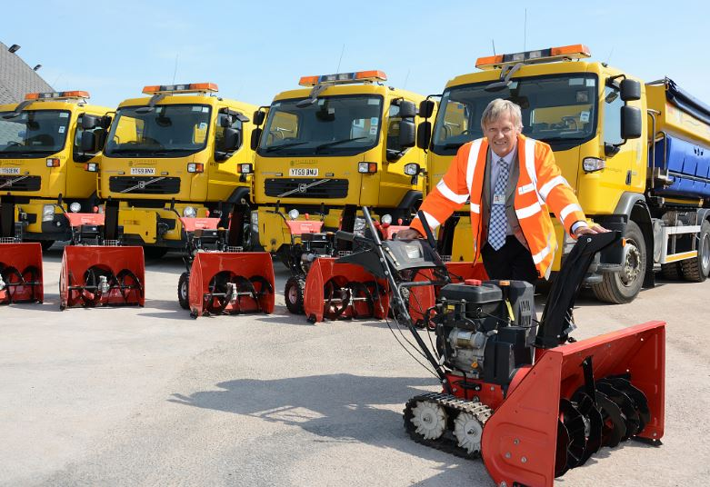 Councillor Mathews, gritters and snow-blowers