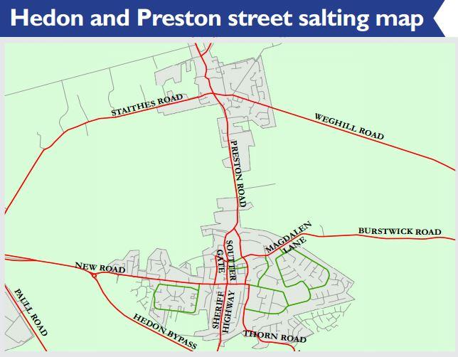 Hedon and Preston Salting Map