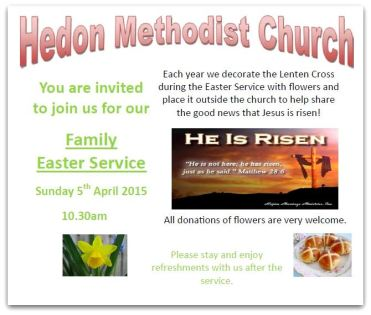 Easter Family Service 2015
