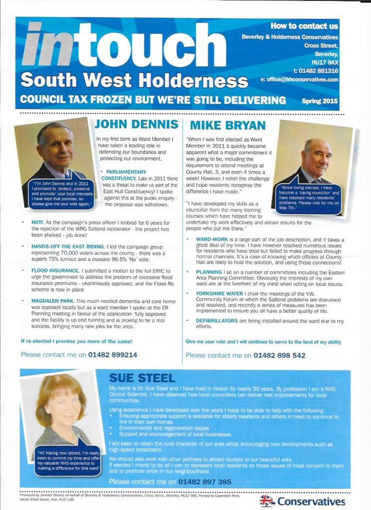 Intouch Conservatives front