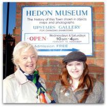 """The museum is easy to find!"" says exhibition manager Julie Marshall and press officer Katie Miller"