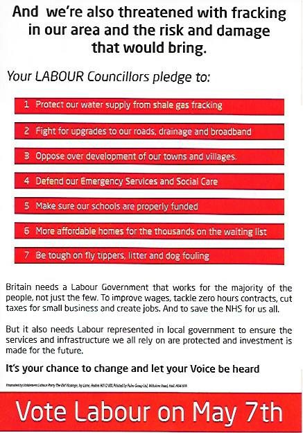 Local Labour leaflet 2
