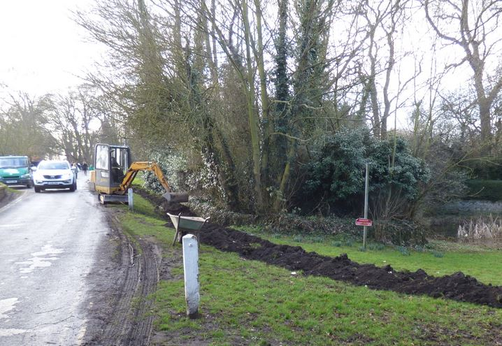 Swale ditch digging