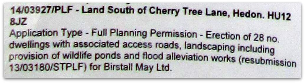 Planning Application Description