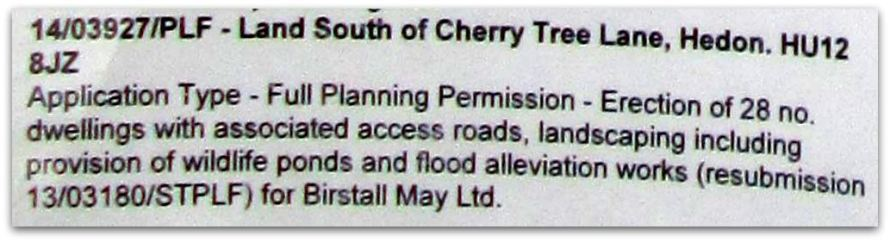 Planning Application Description