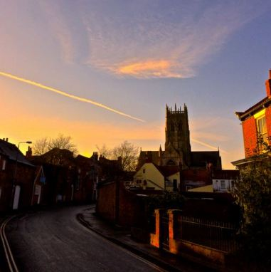 Jason Bryan - The Church at sunset from Magdalen Lane.