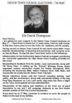 David Thompson Election