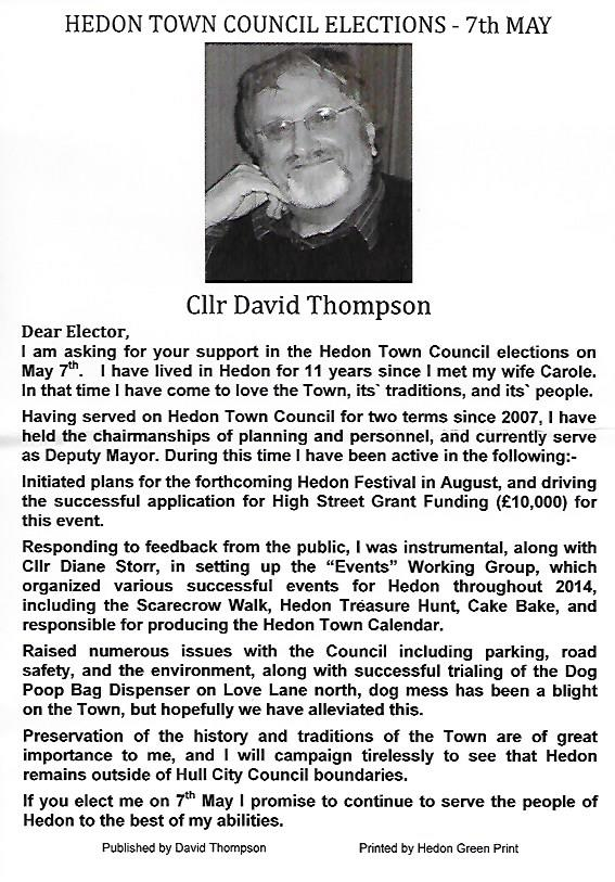 David Thompson Election