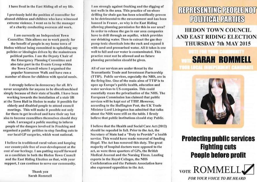 Sarah Rommell front