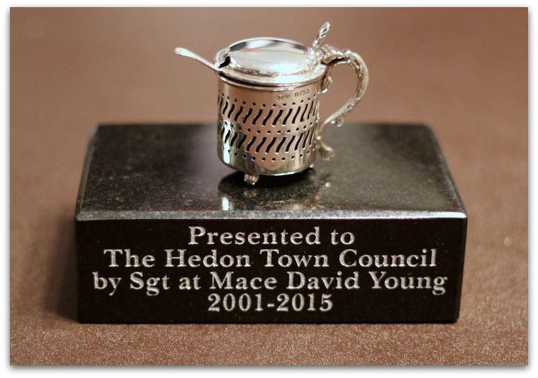 Silver mustard pot Hedon Civic Silver