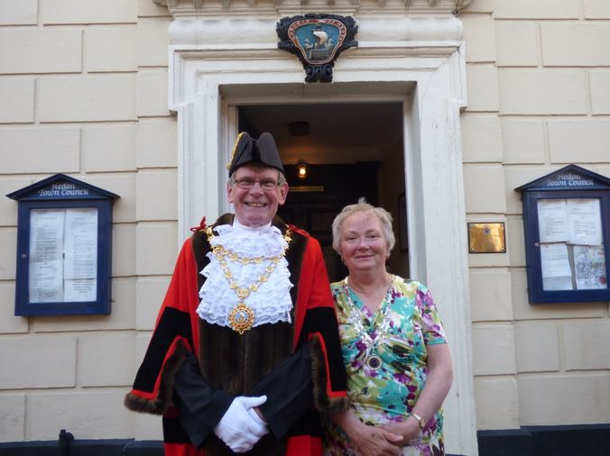 669th Mayor Neil Black and Mrs Linda Black wide