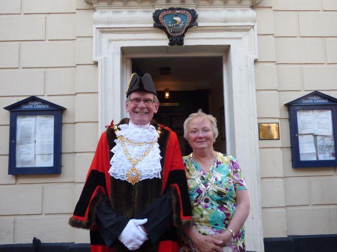 669th Mayor Neil Black and Mrs Linda Black wide