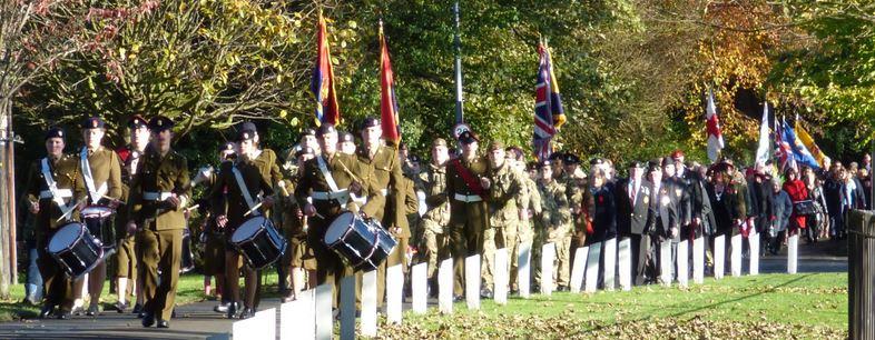 Cadets parade banner