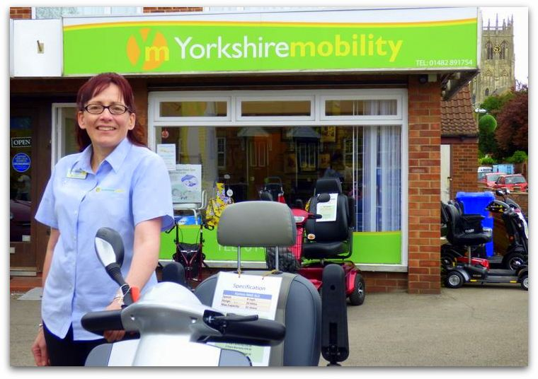 Camille at Yorkshire Mobility Shop